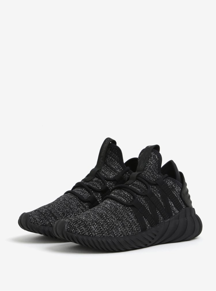 Černé dámské tenisky s třpytivým efektem adidas Originals Tubular Dawn