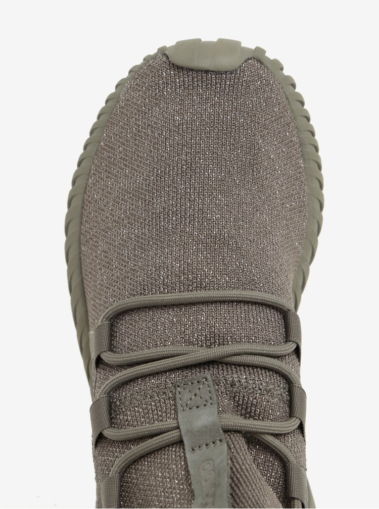Khaki dámské tenisky s třpytivým efektem adidas Originals Tubular Dawn