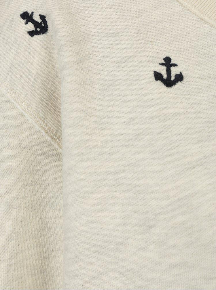 Krémová žíhaná mikina s námořními motivy Scotch & Soda