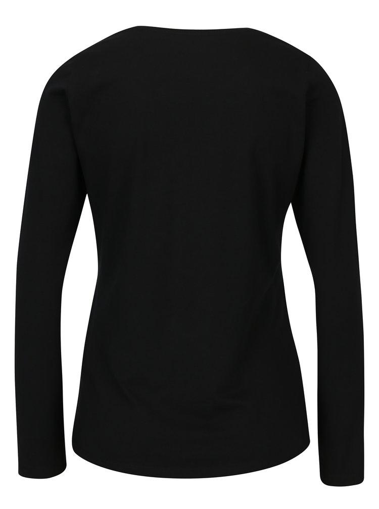 Bluza neagra cu print - Pepe Jeans New Virginia