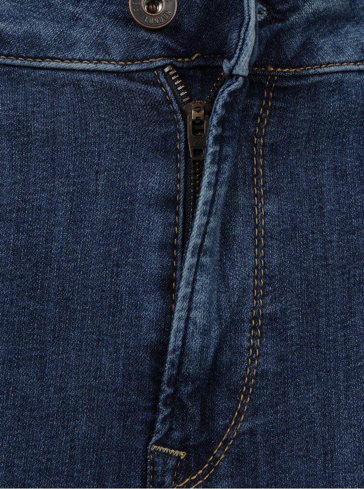 Modré dámské relaxed zkrácené džíny Pepe Jeans Topsy