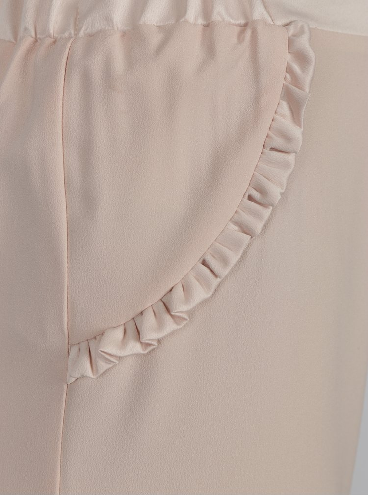 Světle růžové culottes Dorothy Perkins Petite