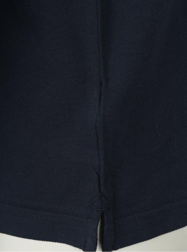 Tmavě modré polo tričko s dlouhým rukávem Farah Merriweather