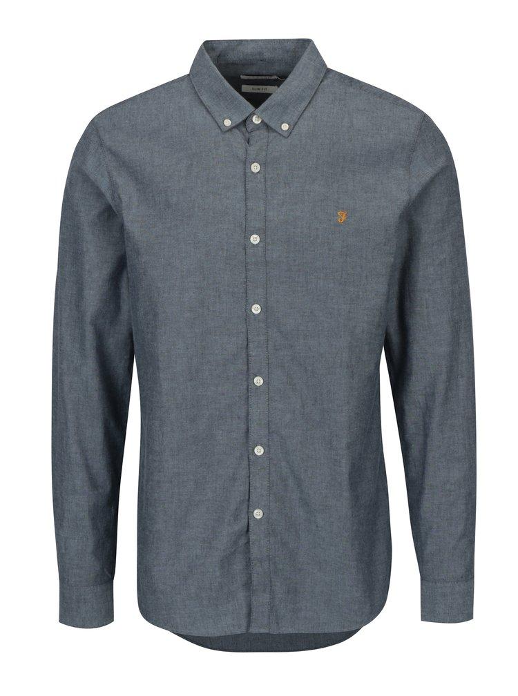 Modrá žíhaná slim fit košile Farah Steen