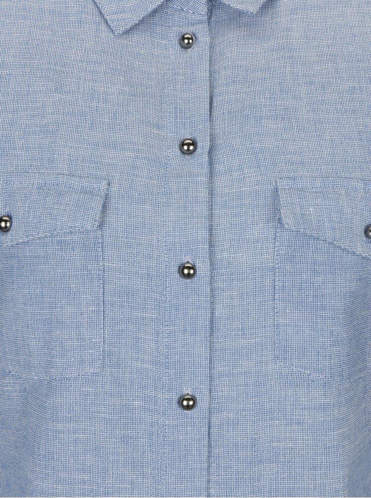 Camasa albastru deschis cu model discret Dorothy Perkins