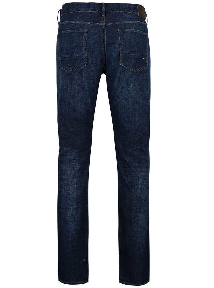 Tmavě modré pánské straight fit džíny Tommy Hilfiger