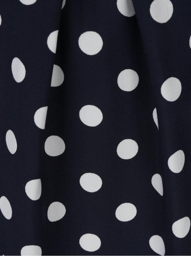 Tmavě modrá puntíkovaná halenka Billie & Blossom