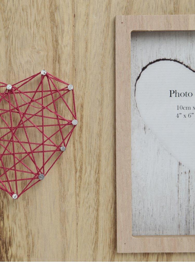 Hnědý fotorámeček na dvě fotografie SIFCON