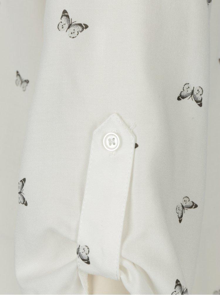 Krémová vzorovaná halenka Billie & Blossom