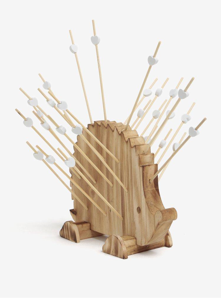 Dřevěný držák na párátka ve tvaru ježka SIFCON
