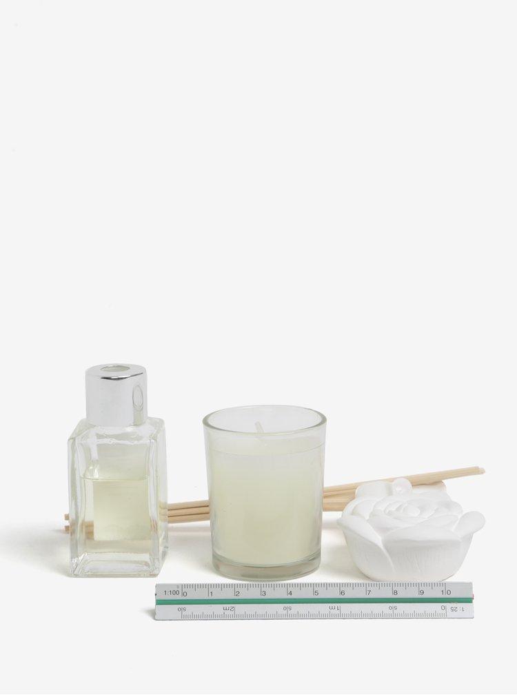 Dárkový set difuzéru, svíčky a jílu s vůní čerstvé bavlny SIFCON