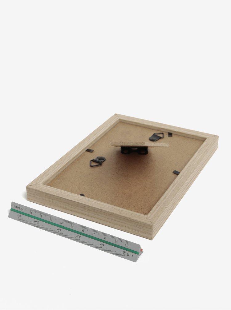 Hnědý malý dřevěný fotorámeček SIFCON