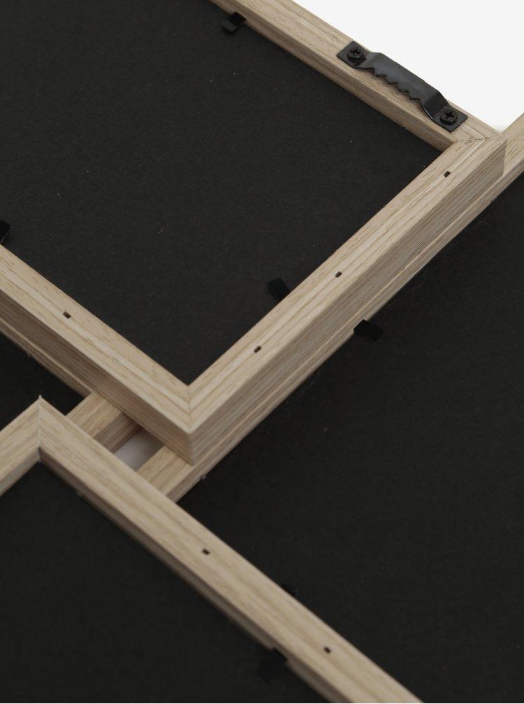 Rama foto din lemn cu patru spatii SIFCON