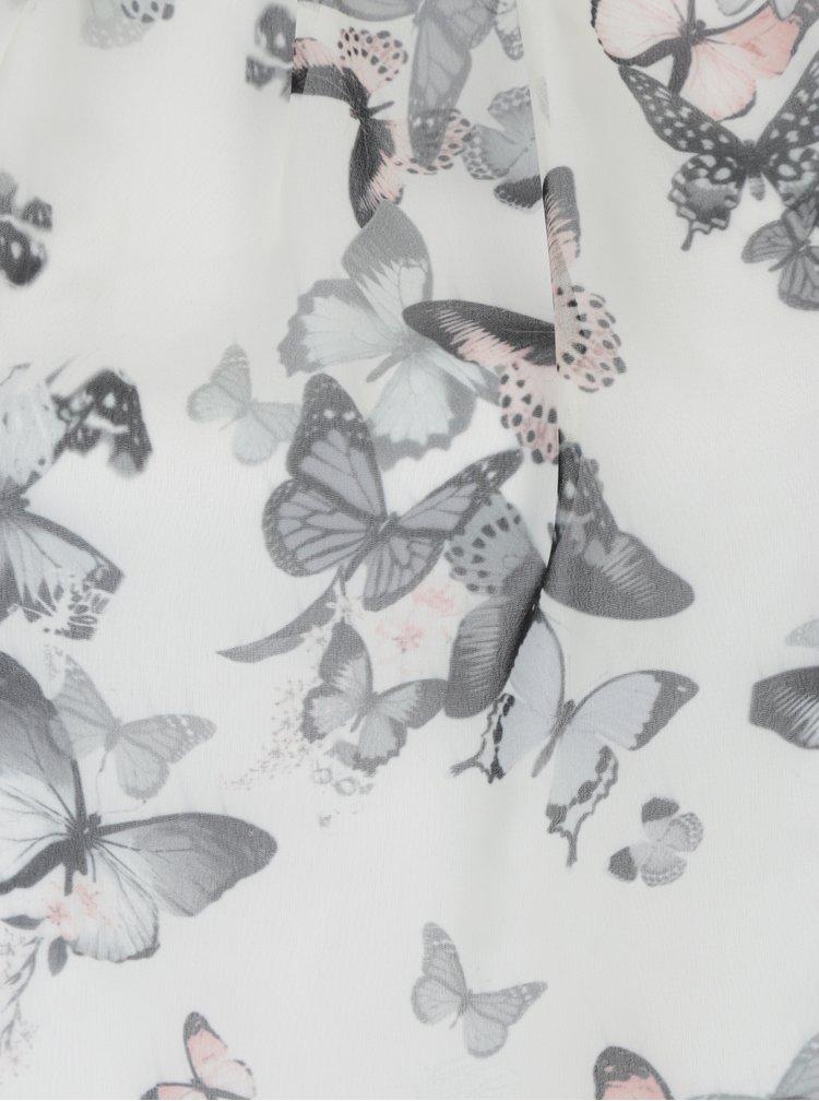 Krémová halenka s potiskem motýlů a 3/4 rukávem Billie & Blossom