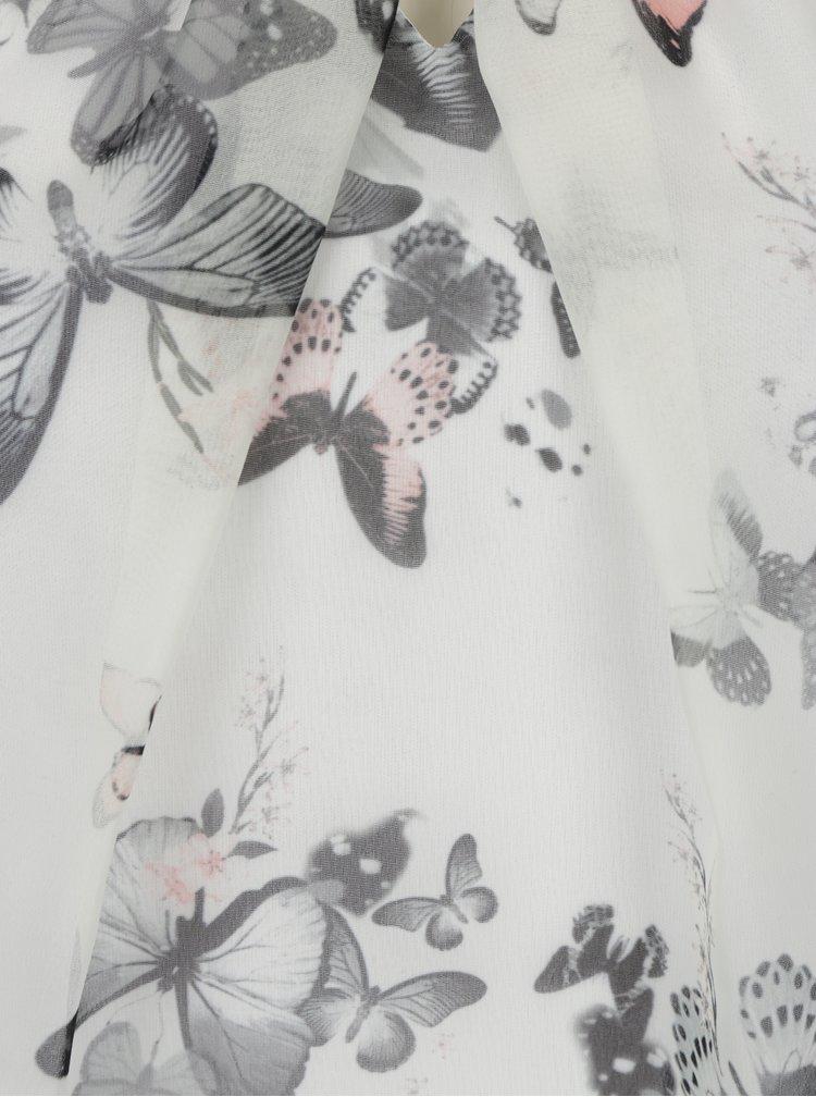 Krémová halenka s potiskem motýlů a krátkým rukávem Billie & Blossom