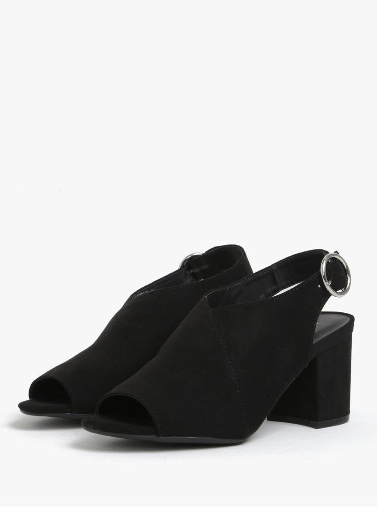 Sandale negre cu toc lat Dorothy Perkins