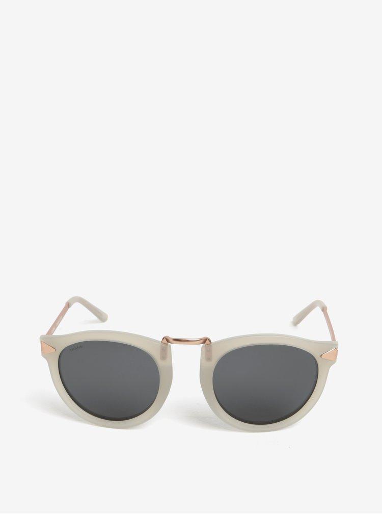 Krémové dámské sluneční brýle s pozlacenými detaily Pilgrim Kinsley