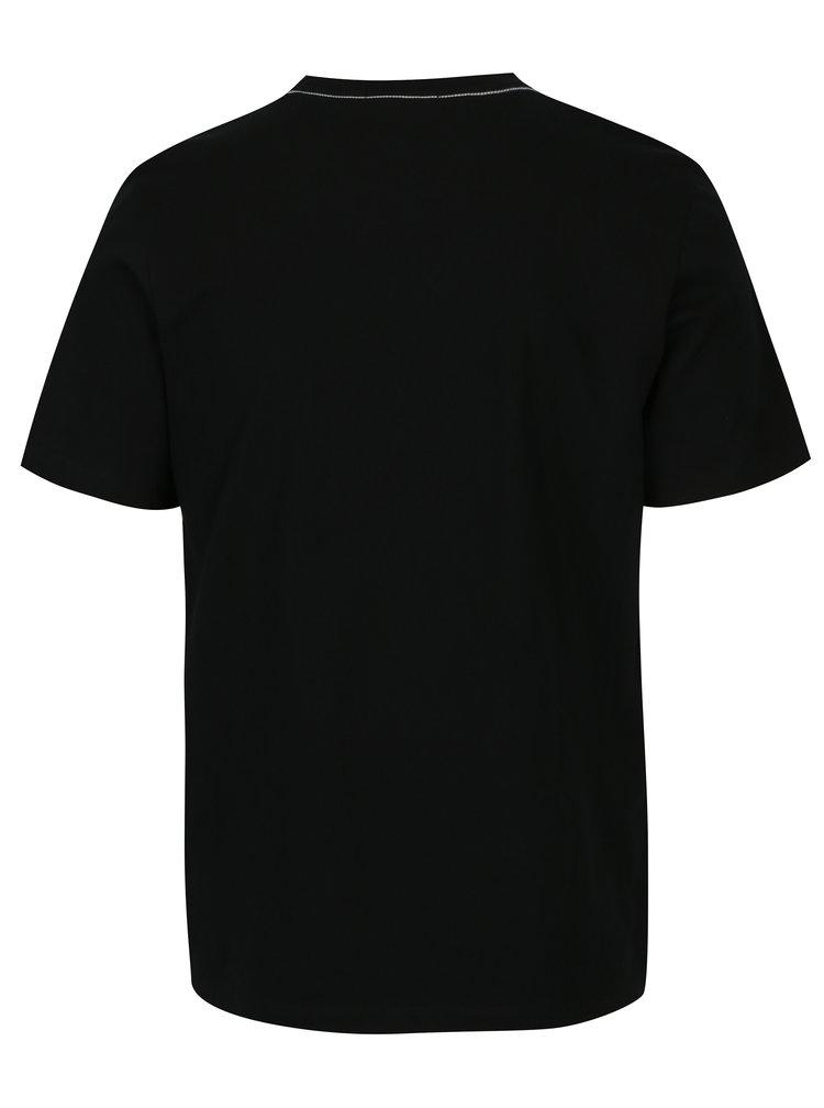 Černé pánské regular fit tričko s potiskem Calvin Klein Jeans