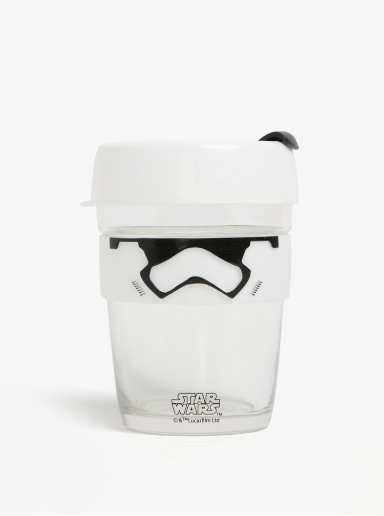Cana transparenta de calatorie cu tematica Star Wars KeepCup Stormtrooper Brew Medium