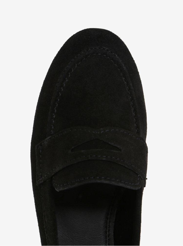 Mocasini negri din piele intoarsa Dune London Loafer