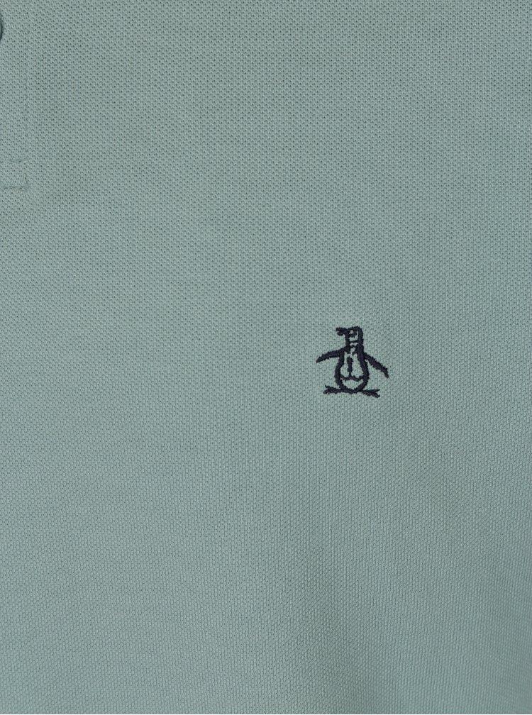 Světle zelené slim fit polo tričko Original Penguin