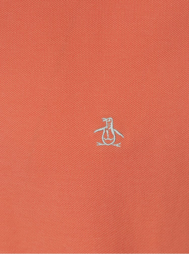 Meruňkové slim fit polo tričko Original Penguin