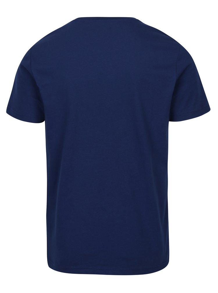 Tmavomodré tričko s potlačou Original Penguin