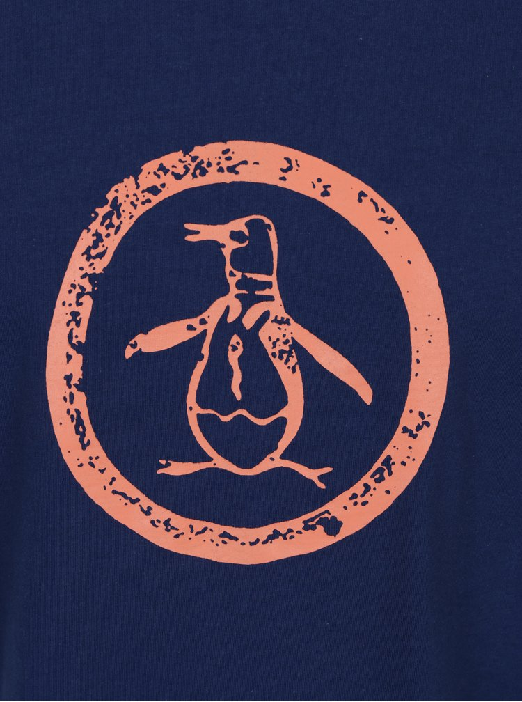 Tricou bleumarin cu print - Original Penguin