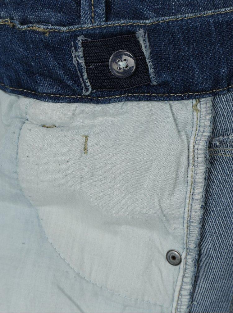 Modré klučičí skinny džíny s vyšisovaným efektem name it Pete
