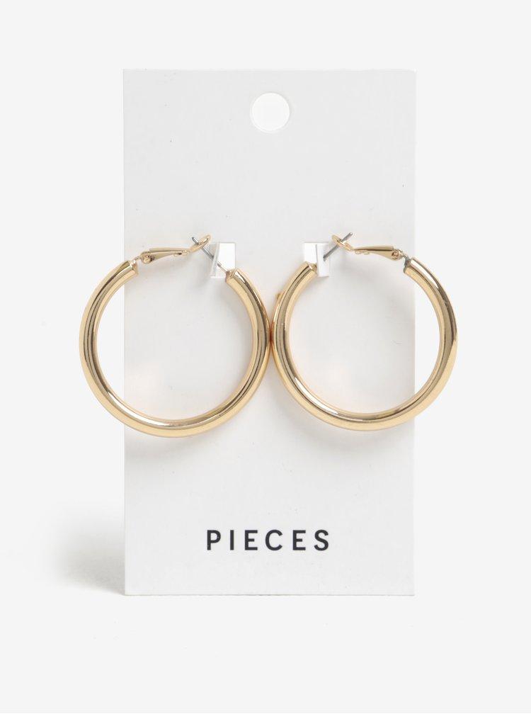 Kruhové náušnice ve zlaté barvě Pieces Mara