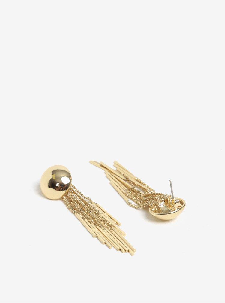 Náušnice se střapci ve zlaté barvě Pieces Victorine