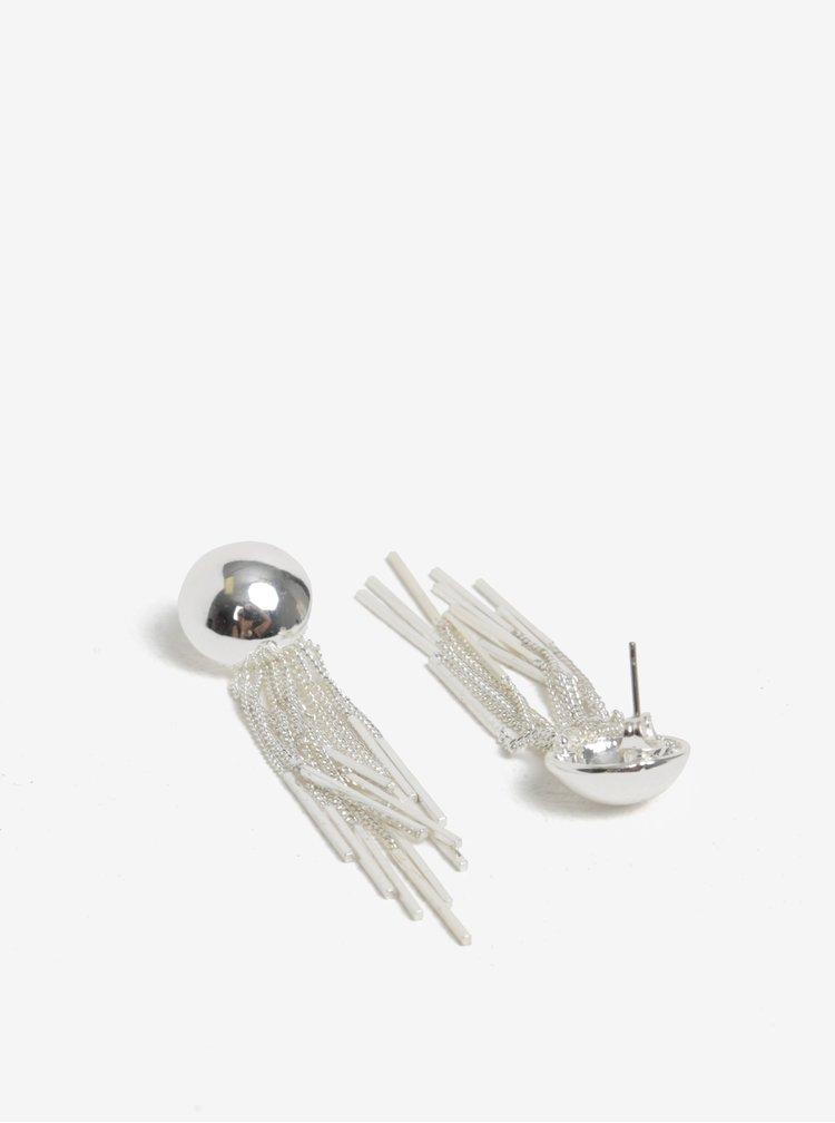 Náušnice se střapci ve stříbrné barvě Pieces Victorine