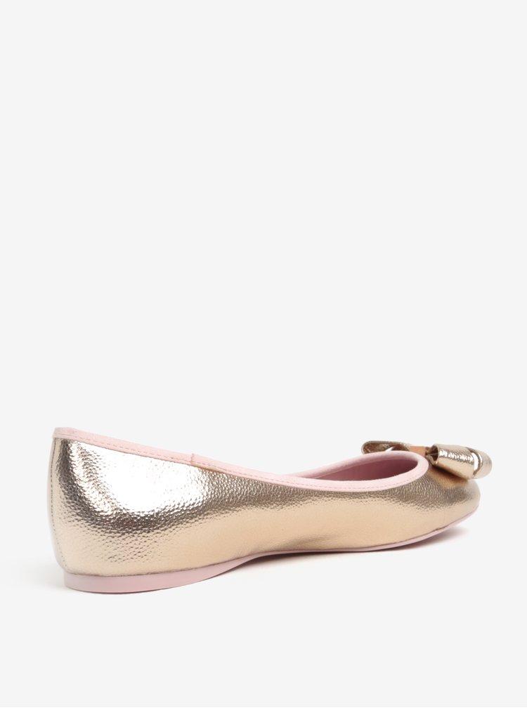 Metalické baleríny v růžovozlaté barvě Ted Baker Immet