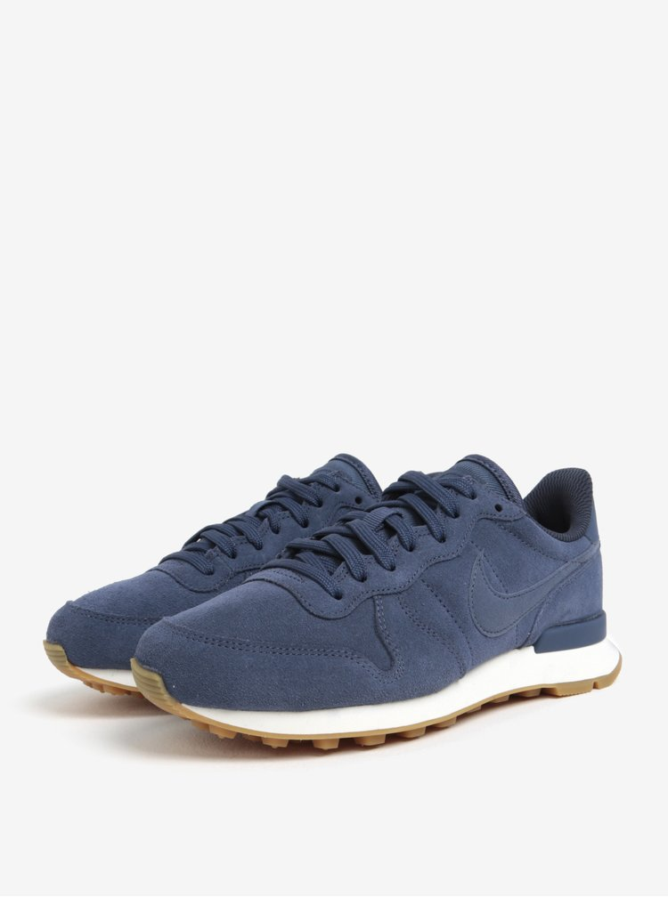 Pantofi sport din piele intoarsa gri albastrui pentru femei -  Nike Internationalist