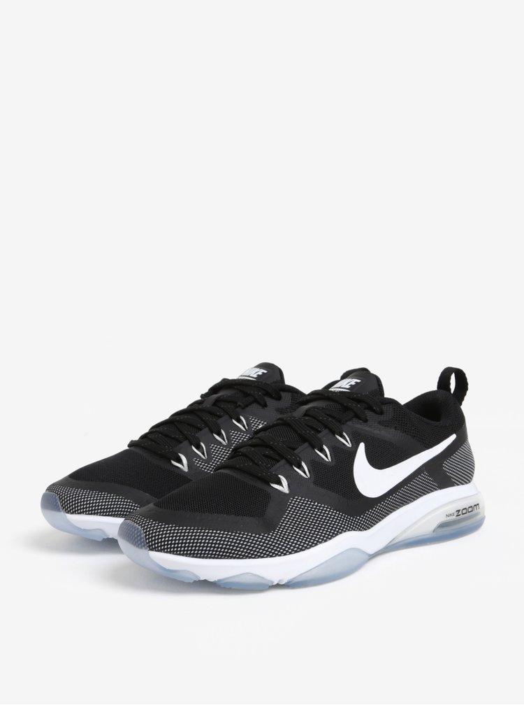Bielo-čierne dámske tenisky Nike Zoom Fitness Training