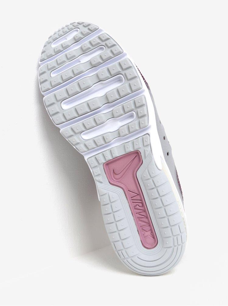 Vínové dámské žíhané tenisky Nike Air Max Sequent 3 Running