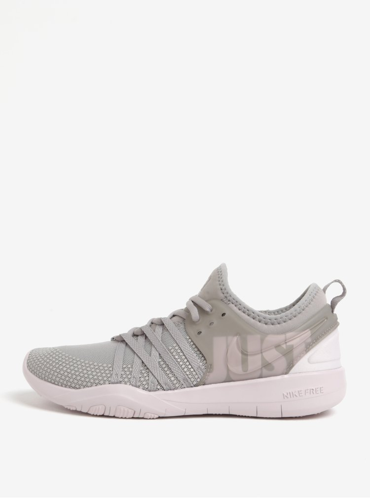 Světle šedé dámské tenisky Nike Free TR 7 Premium Training