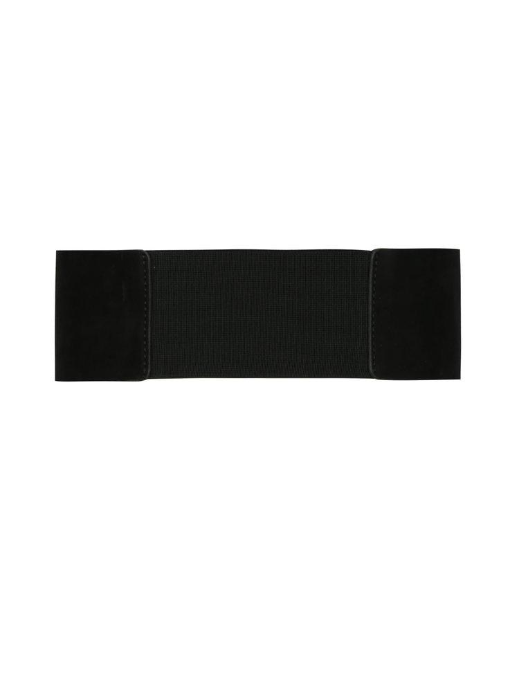 Černý široký pásek v semišové úpravě Pieces Monia