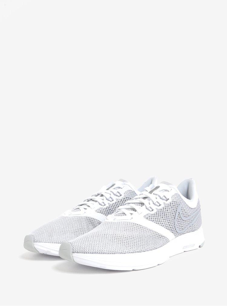 Šedo-bílé pánské tenisky Nike Zoom Strike Running