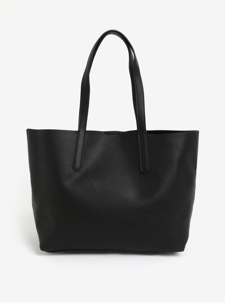 Černý shopper s pouzdrem 2v1 Pieces Alice