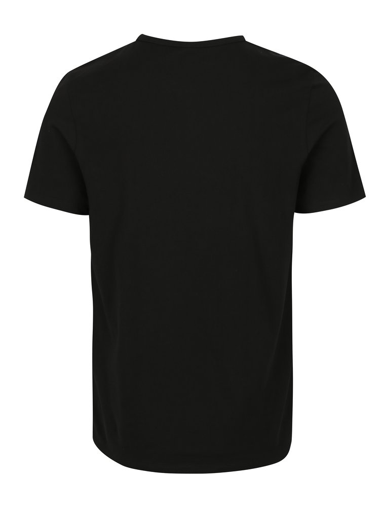 Sada dvou černých basic triček s krátkým rukávem Jack & Jones Basic
