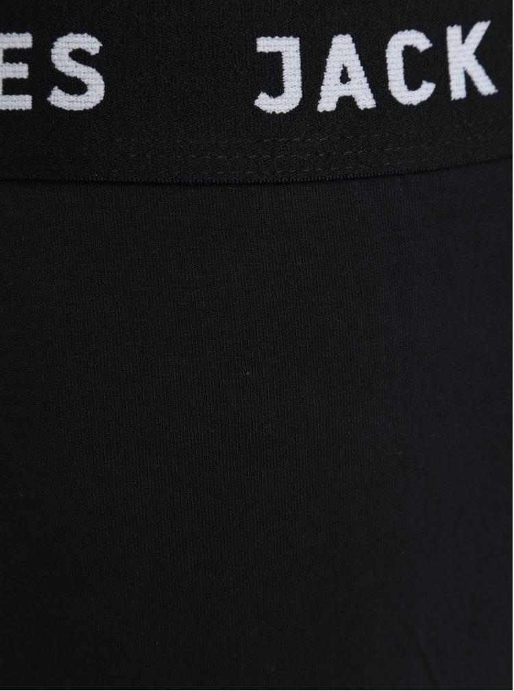 Súprava troch boxeriek v čiernej farbe Jack & Jones Classic