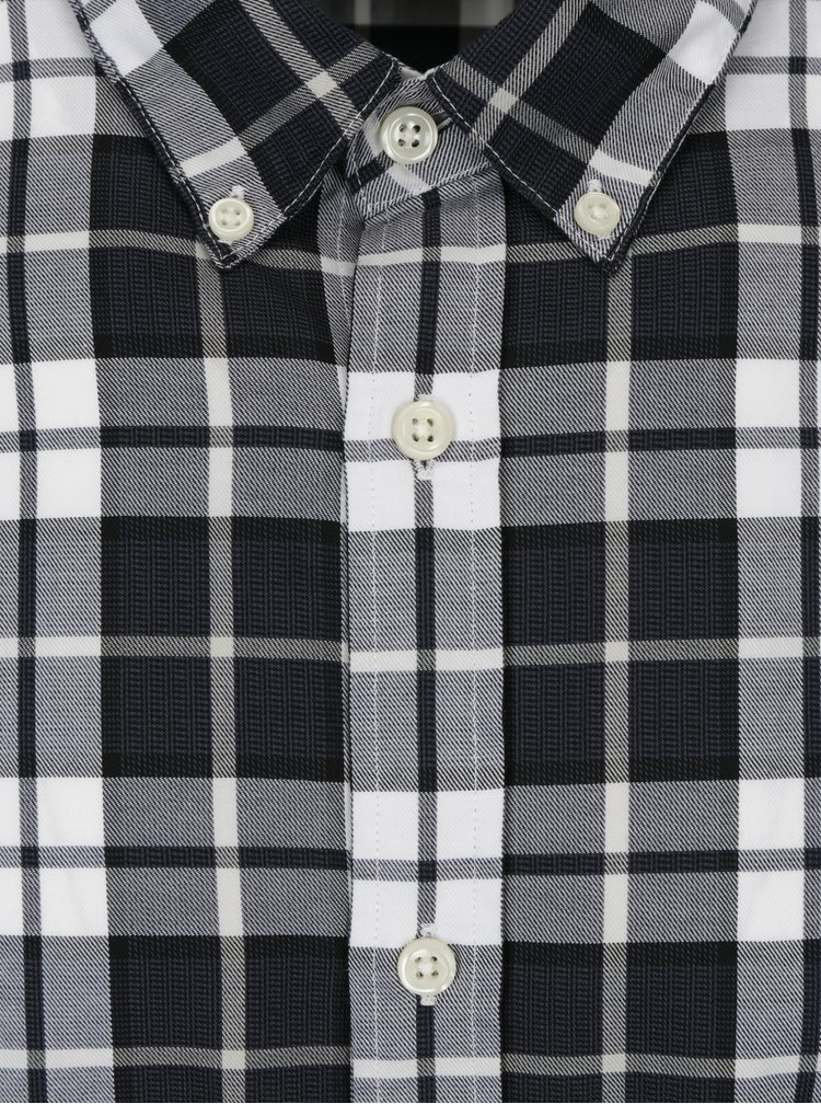 Modro-krémová slim fit kostkovaná košile Jack & Jones Premium Lawrence