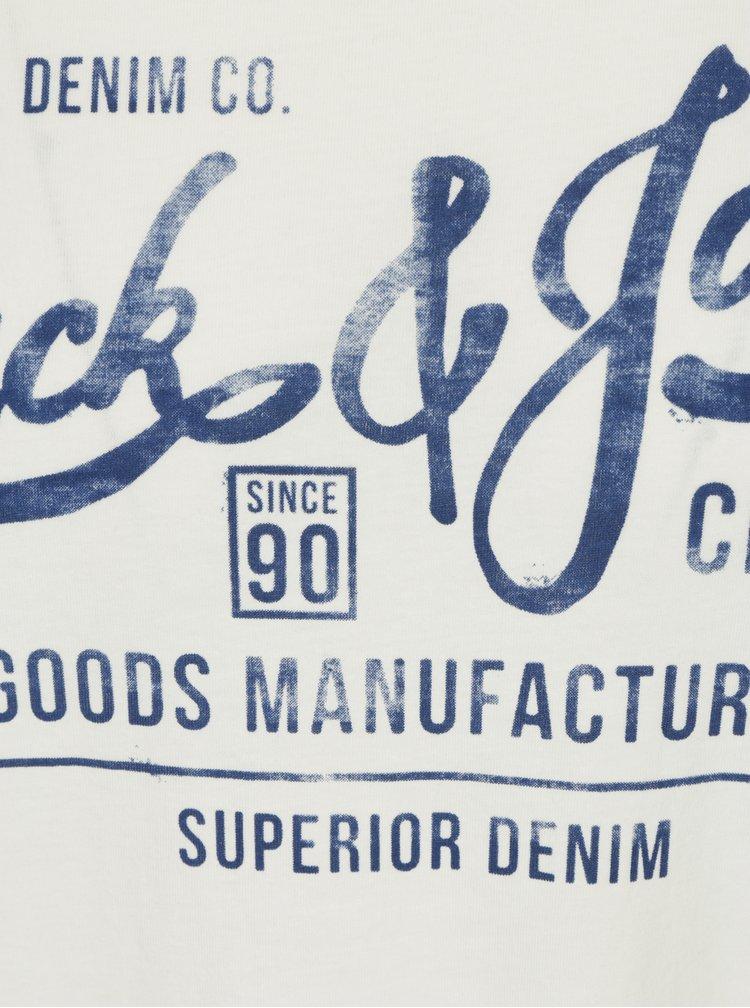 Krémové tričko s potiskem Jack & Jones Slack