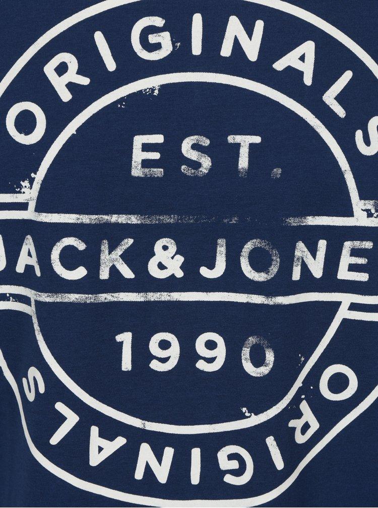 Modré tričko s potiskem Jack & Jones Slack