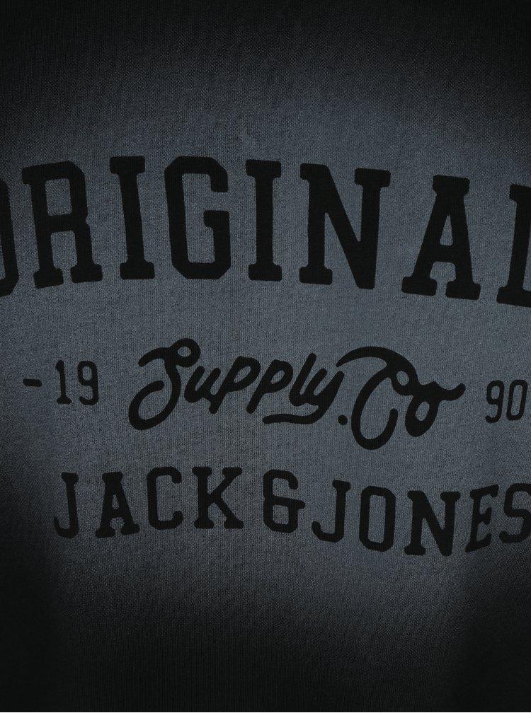 Černé tričko s potiskem Jack & Jones Stencild