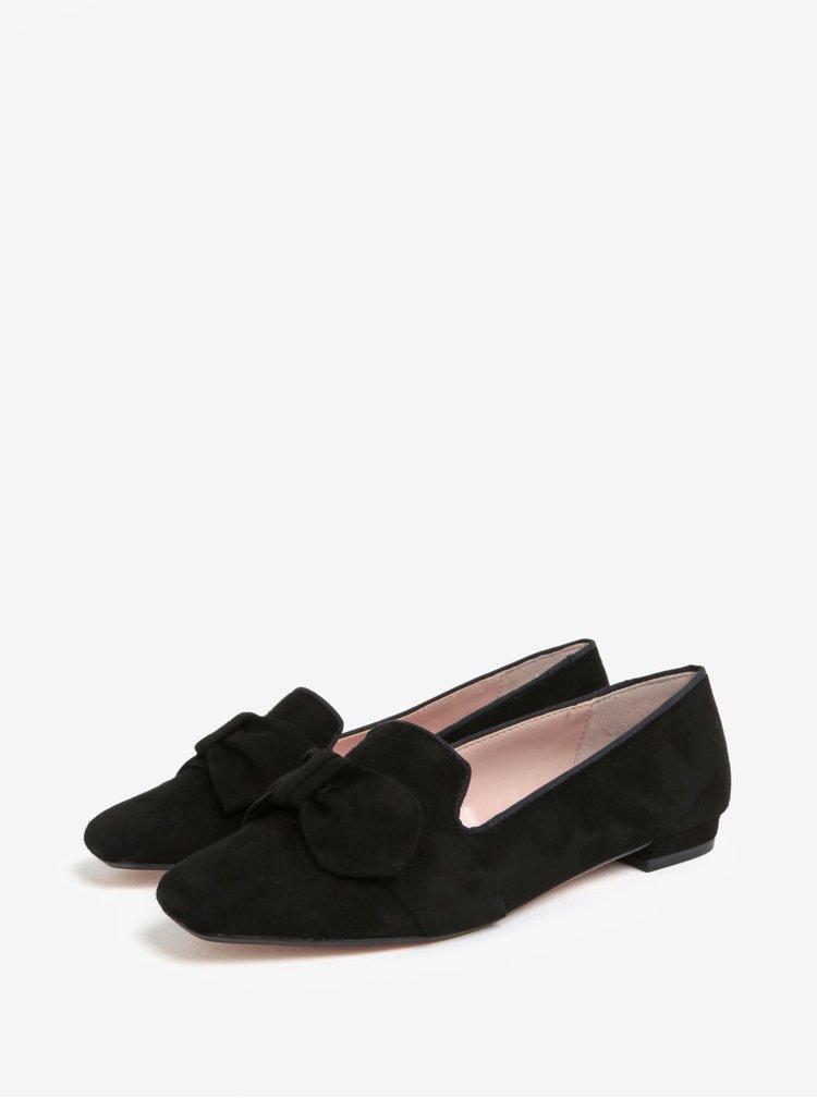 Černé semišové mokasíny Dune London Softy