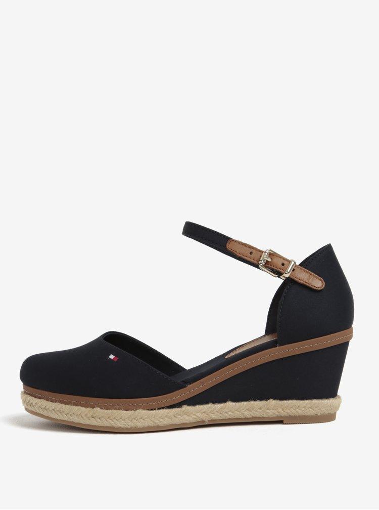 Tmavě modré sandálky na klínku Tommy Hilfiger