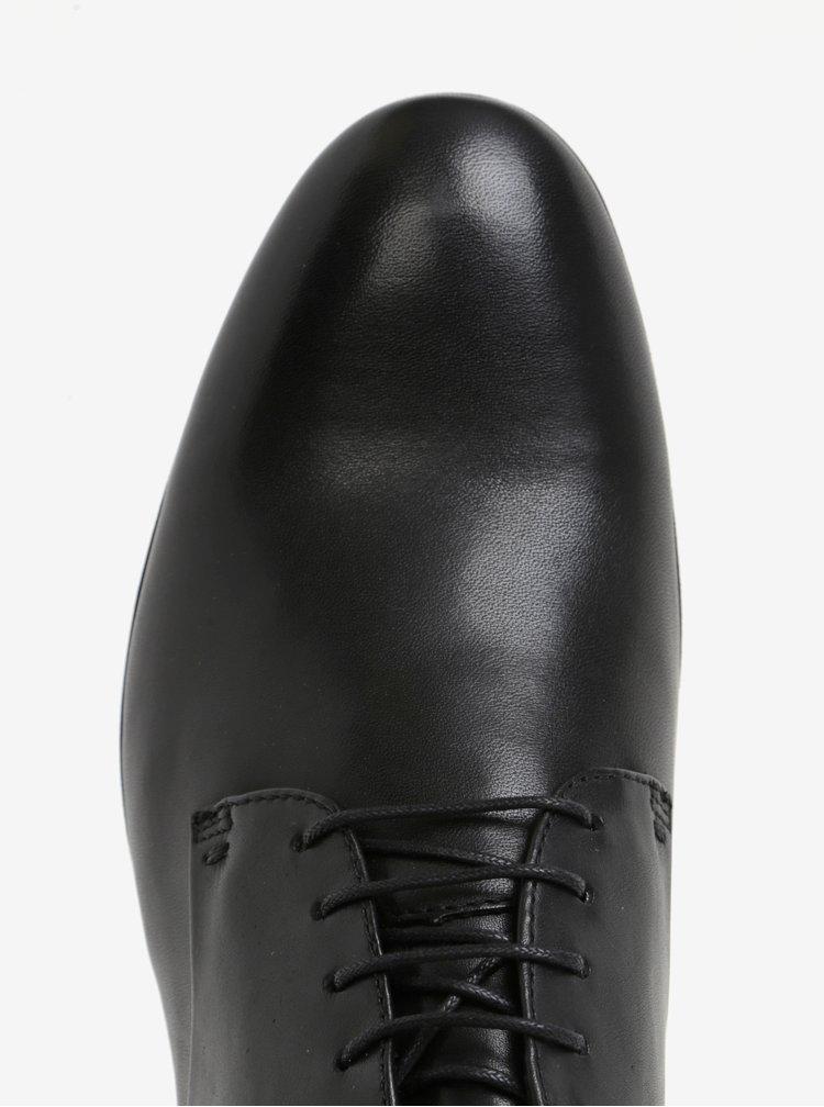 Černé pánské kožené polobotky Vagabond Linhope