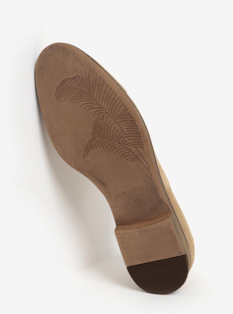 Béžové pánské semišové polobotky Vagabond Linhope